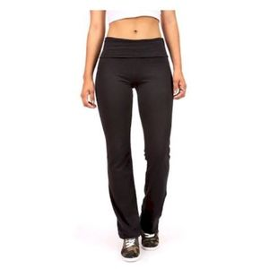 Mossimo Charcoal Grey Foldover Yoga Tights Pants